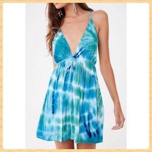 New Forever21 Sleeveless Tie-Dye Mini Dress